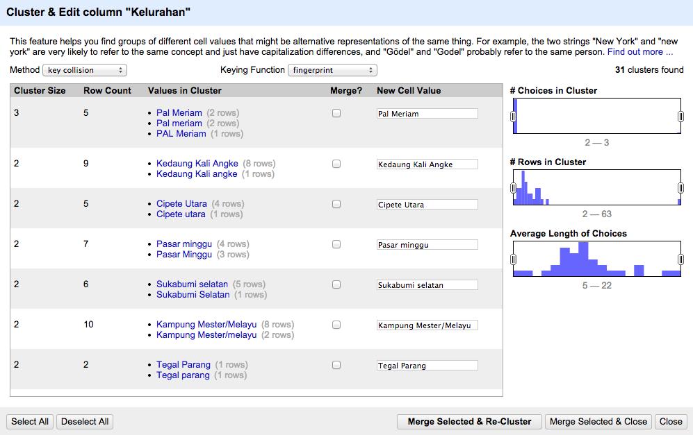 clustering-dialog